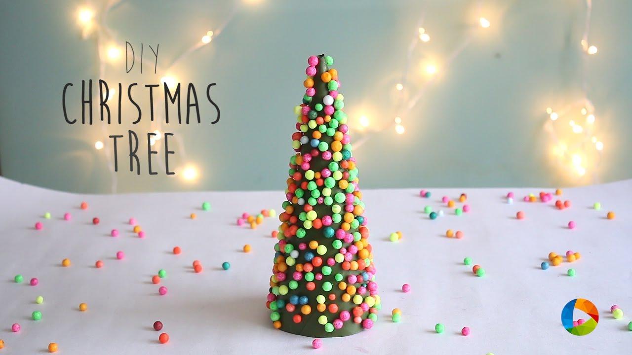 DIY Christmas Tree Thermocol Ball