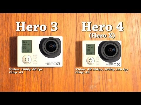 GoPro Hero 4 Prototype (Hero X) vs Hero 3