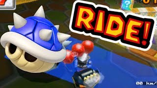 Mario Kart 7 Blue Shell Ride On All Tracks & Battle Stages!
