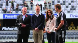 Prince William and Richie McCaw on the 2014 IRB JWC