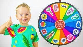 Alex y Gaby jugando con Rueda mágica! Videos para niños En español