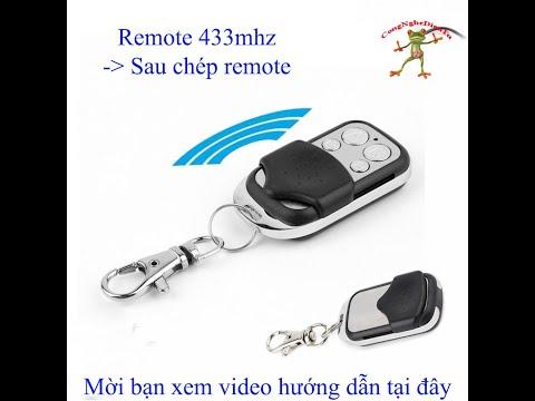 Remote sao chép học lệnh 433mhz học từng phím thông minh