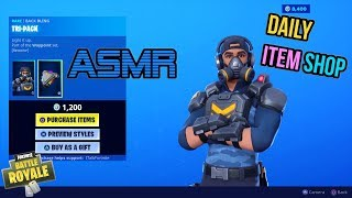 ASMR | Fortnite NEW Bravo Leader Skin and Tac Bats! Item Shop Update 🎮🎧Relaxing Whispering😴💤