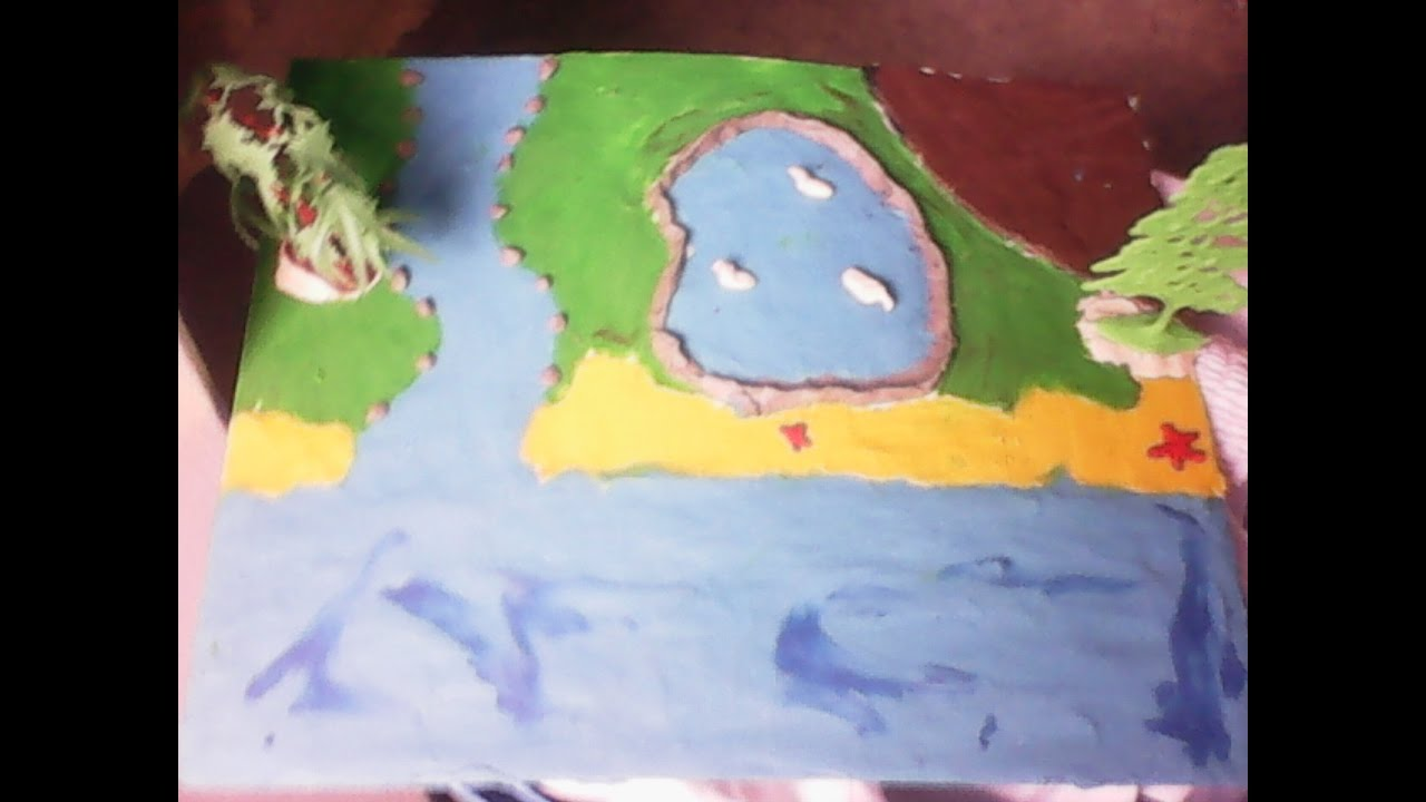 C mo hacer una maqueta que represente r os lagos mares for Como construir una laguna artificial