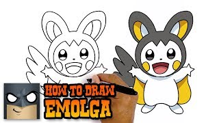 How to Draw Emolga | Pokemon | Awesome Step-by-Step Tutorial