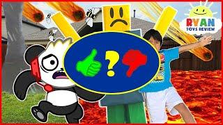 ROBLOX Natural Survival Disaster In Real Life + Combo Panda Gaming Family Fun kids - Video Review