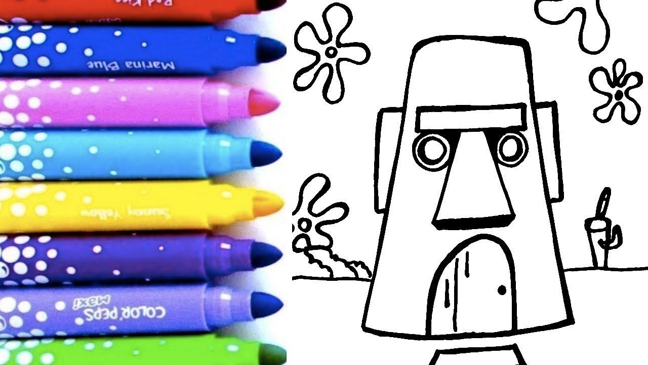 Aprende A Dibujar Colorear La Casa De Calamardo Tentáculos De Bob Esponja