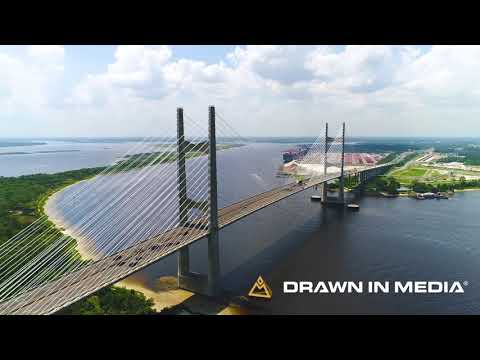 Dames Point Bridge | Aerial Drone Video | Jacksonville Video Production