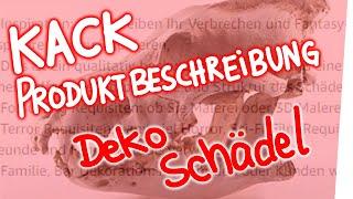 Kack-Produktbeschreibung – Deko-Schädel