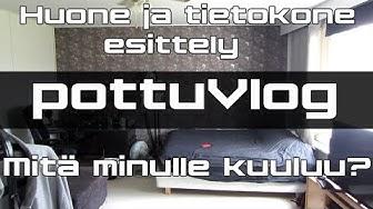 PottuVlog // Huone ja tietokone esittely! + Sawolan