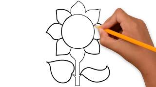 Flower Drawing for Kindergarten