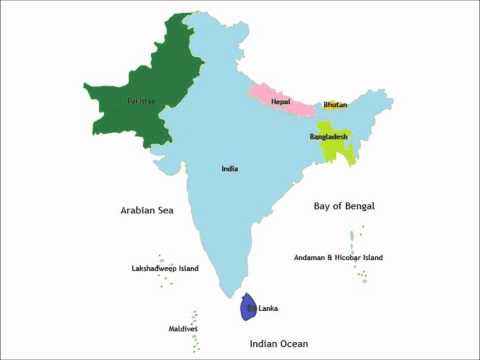 Map of India in 2025