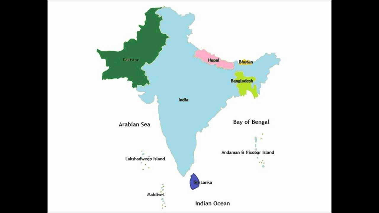 Map of India in 2025 - YouTube
