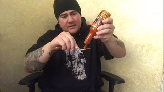 "Trying Out "" Fiery Fool "" By [ Hellfire Hot Sauce ] Gifted By The Homeboy [ Anthony Mackey ] - MrMaD"