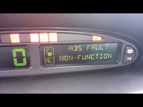 Citroen. abs.ситроён ксара пикассо. ABS fault non-function. Ошибка абс.Проверить abs