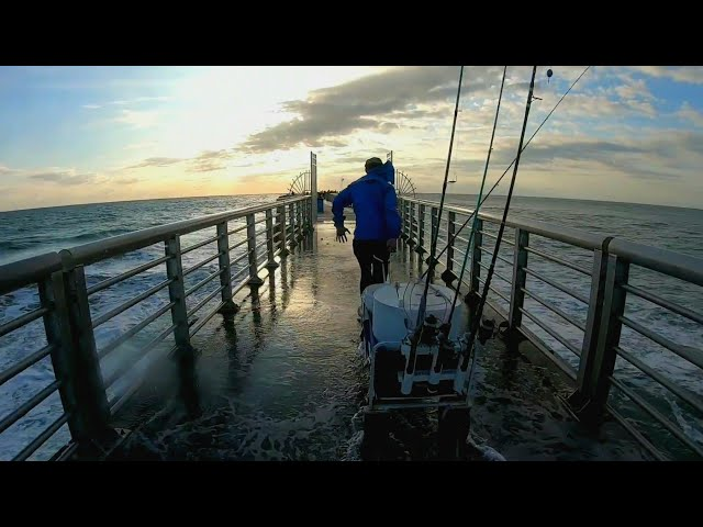 Trying to Catch Dinner - Jetty Fishing