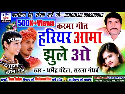 Hariyar Aama Jhule O - हरियर आमा झूले ओ । Singer - Dharmendra Chandel   Cg Karma Song DAHARIYA MUSIC