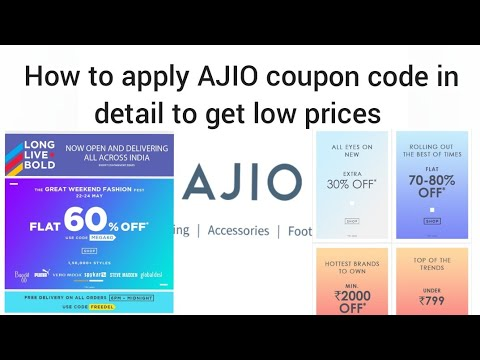 How to apply AJIO Coupon code in detail / Get Discount @ Low prices / AJIO SALE / AJIO OFFERS/