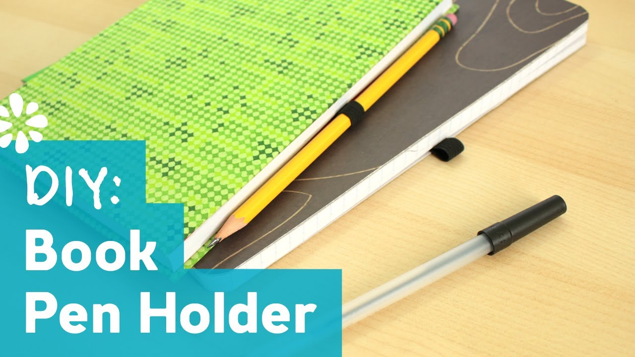 How To Make A Book Holder ~ Diy book pen holder sea lemon youtube