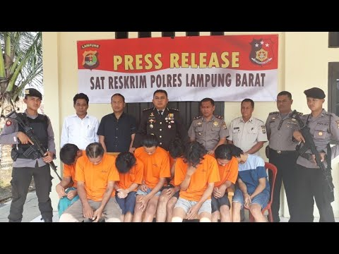 Satreskrim Polres Lampung Barat, Bekuk 8 Pelaku Terlibat Jaringan Narkoba Mp3
