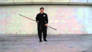 Martial Art Bo Staff Techniques : Basic Bo Staff low blocks - video #159
