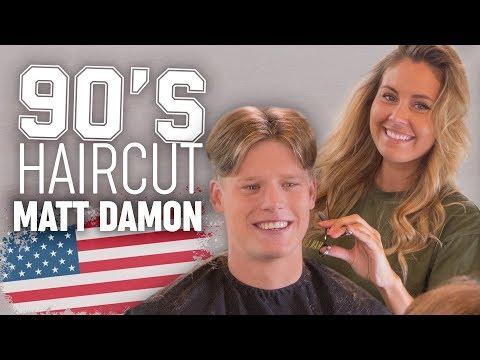 90's Scissor Haircut Inspired By Matt Damon | Mens Hairstyle | SlikhaarTV