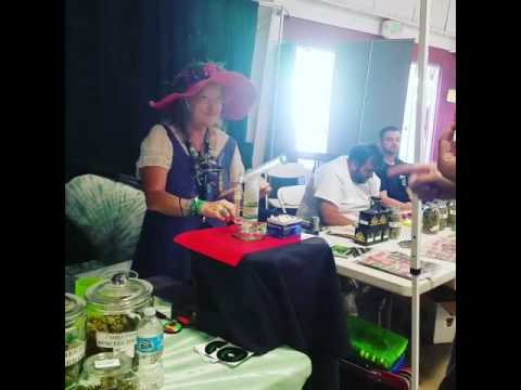 Grandma Greenz Booth at High Life Music Festival 2016