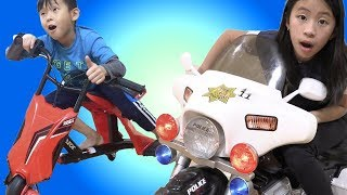 Pretend Play Police Chase New Wild Car Driver