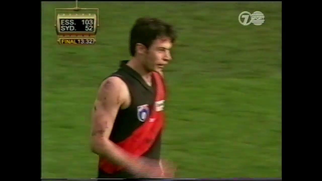 Qualifying Final 1999, Essendon vs Sydney Highlights - YouTube