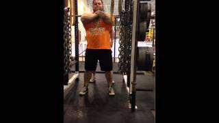 Strength Training At It's Best In Columbus Ohio - The Spot Athletics Coach Front Squatting 585lbs!