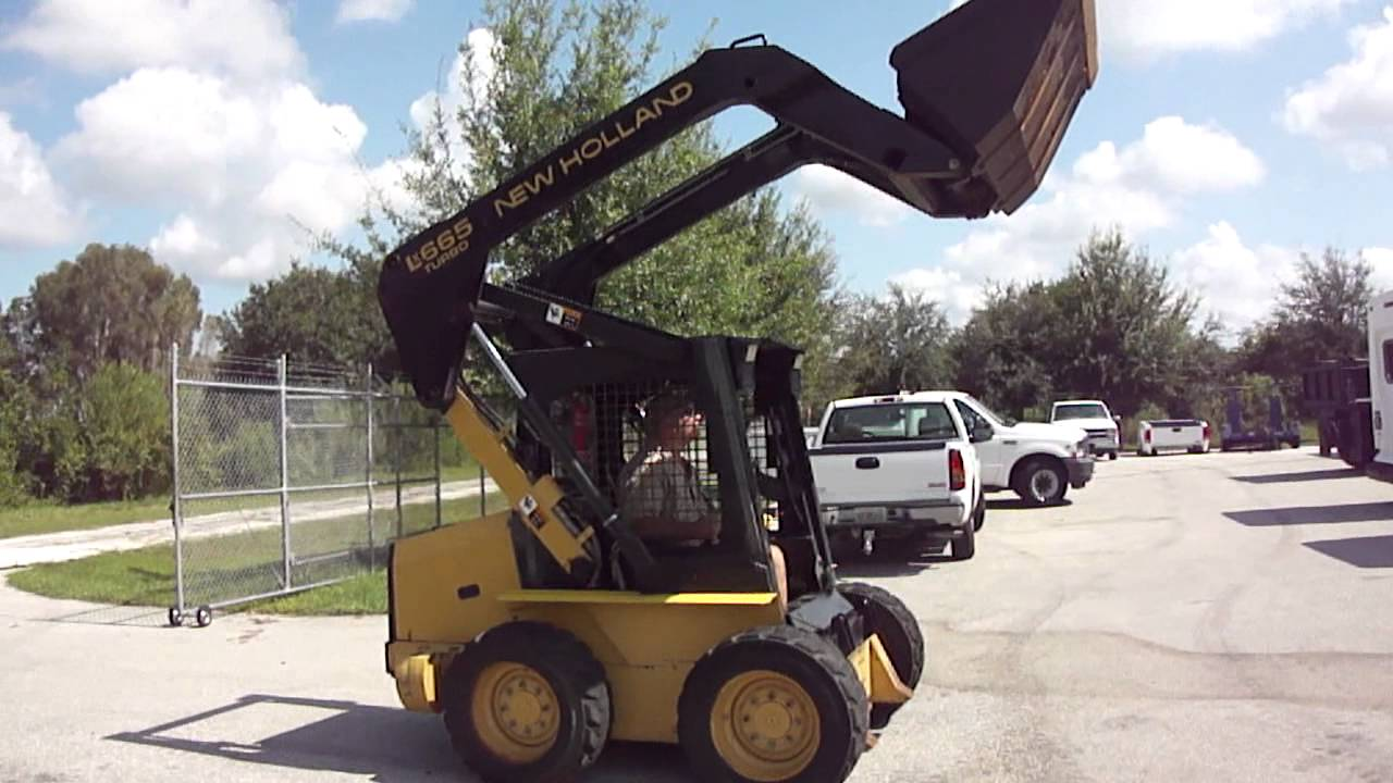 1998 NEW HOLLAND LX-665 TURBO DIESEL SKID STEER - 609 HOURS