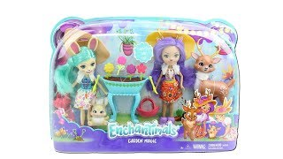Enchantimals Dolls Garden Magic Set Unboxing Toy Review with Danessa Deer and Fluffy Bunny