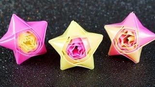 Repeat youtube video Sterne basteln zu Weihnachten: Strohhalmsterne / Wickelsterne falten