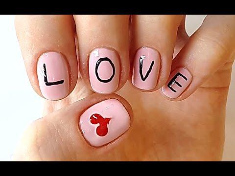 """love nails word """"love"""" nail art"""