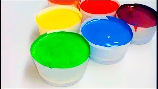 Learn Colors with Paint Slime Toys