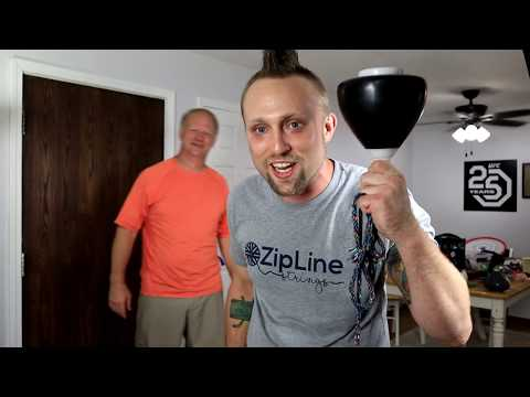 Dazzling Dave Teaches DYLAN KOWALSKI How To Throw A Big Spintop!