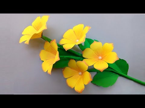 DIY: PAPER FLOWERS decoration ideas - Very Easy Paper Flowers Decoration at Home