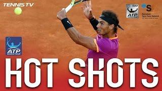 Nadal Shows Lightning Fast Hands At Barcelona 2017