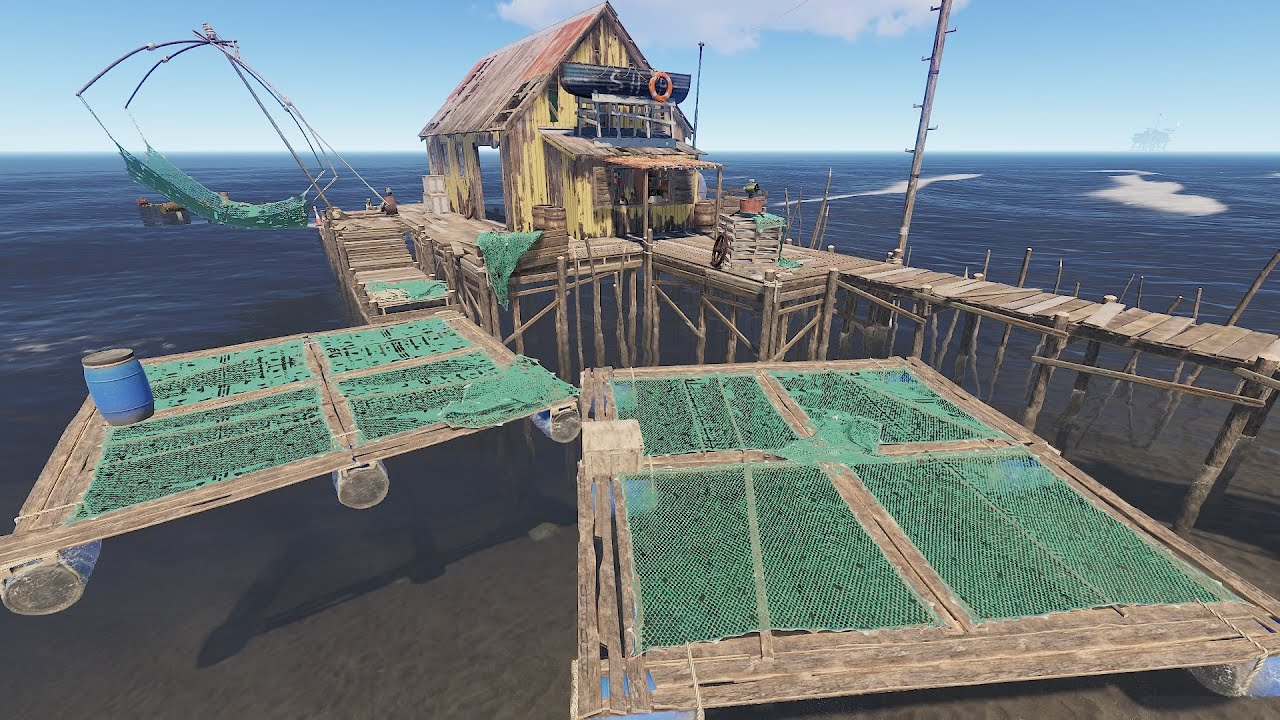Rust - Рыбацкая деревня. Лодки больше не спавнятся!