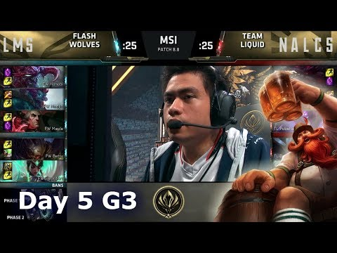 Flash Wolves vs Team Liquid | Day 5 LoL MSI 2018 Main Event Group Stage | FW vs TL
