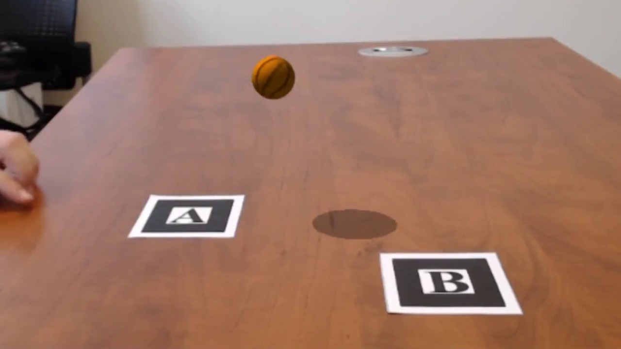 Augmented Reality - Basketball Launcher with AR js
