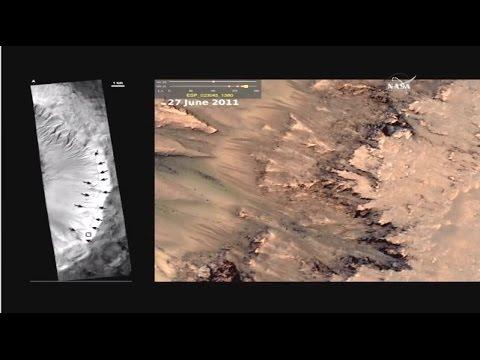 Highlights & Full Nasa Stream - Liquid Water Confirmed On Mars 9-28-15