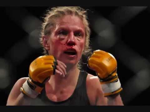 Female fighting female boxing