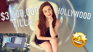 LIVING IN A $3,000,000 VILLA ❤️ Hollywood Immersive Villa Tour