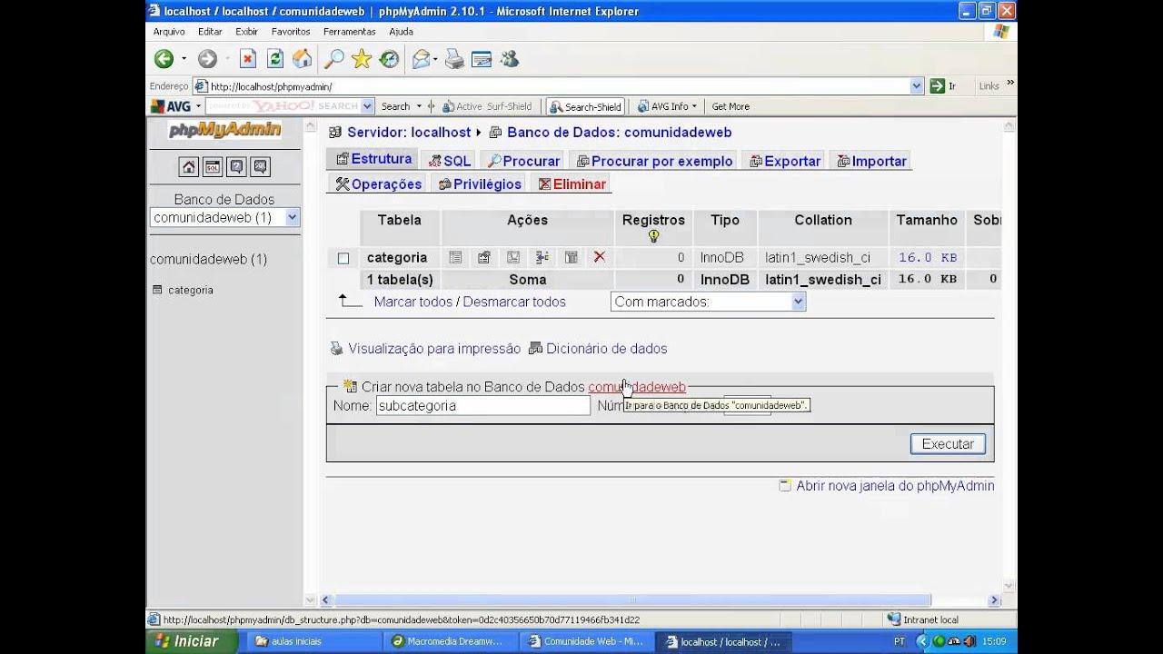 3fa84c2a3 Criando uma Loja Virtual com PHP e MySQL - Aula 02  Criação do Banco ...