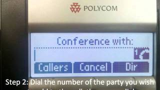 How to create a 3-Way Conference Call- Polycom