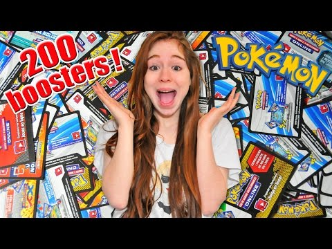 ÉNORME Ouverture de 200 Boosters Pokémon SUR INTERNET !