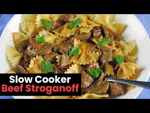 Delicious Slow Cooker Beef Stroganoff