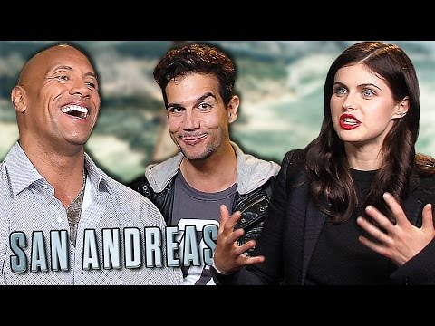San Andreas -Funny Dwayne The Rock Johnson, Alex Daddario, Carla Gugino