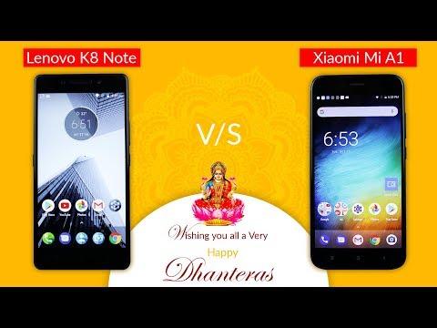 Mi A1 vs Lenovo K8 Note: Would you choose Design or Camera? - Full Comparison